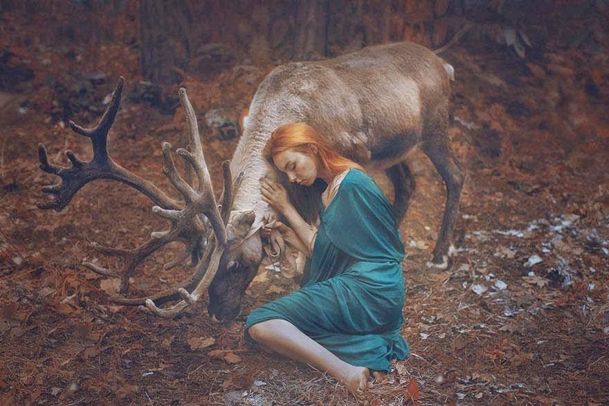 Ela registrou essas fotos impressionantes com animais vivos! 10