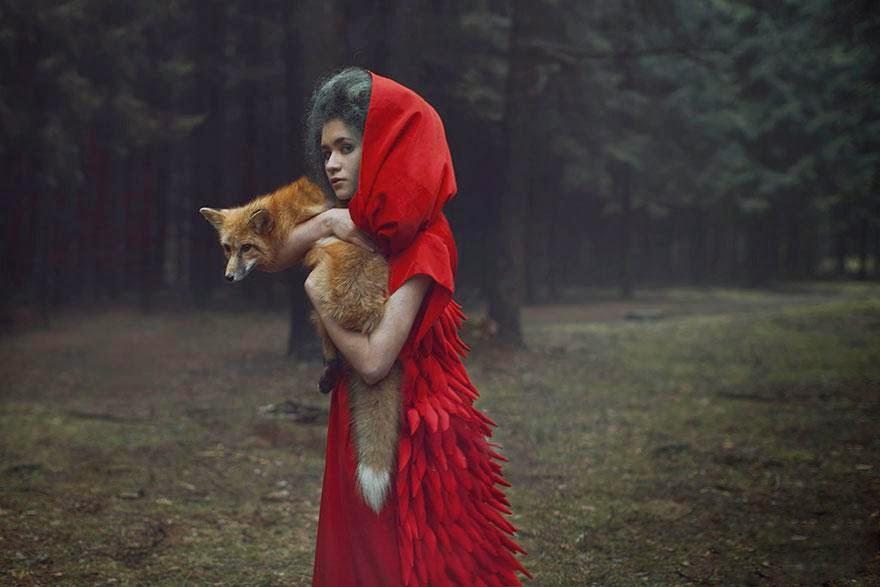 Ela registrou essas fotos impressionantes com animais vivos! 19