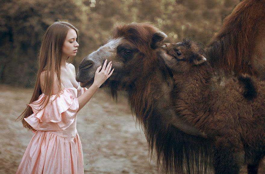 Ela registrou essas fotos impressionantes com animais vivos! 20