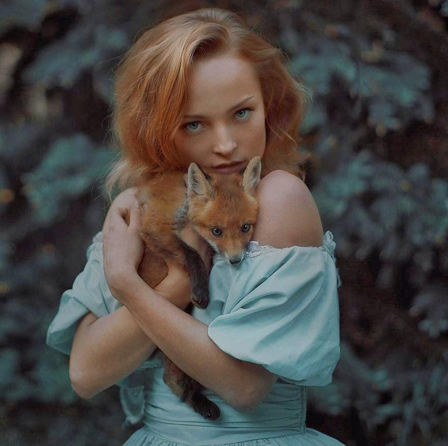 Ela registrou essas fotos impressionantes com animais vivos! 6