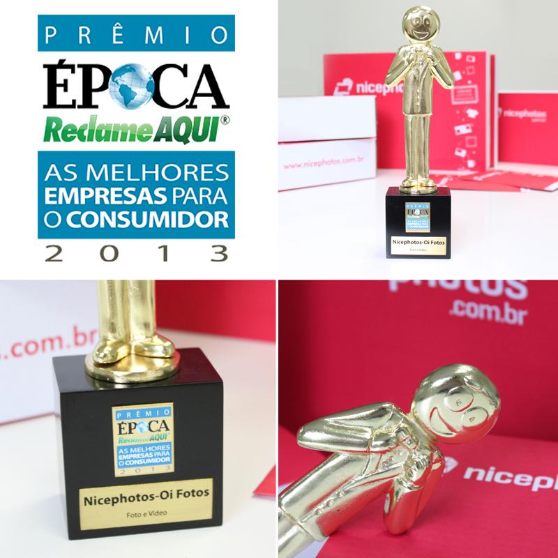 Melhor empresa Foto e Vídeo no Prêmio Época Reclame Aqui!