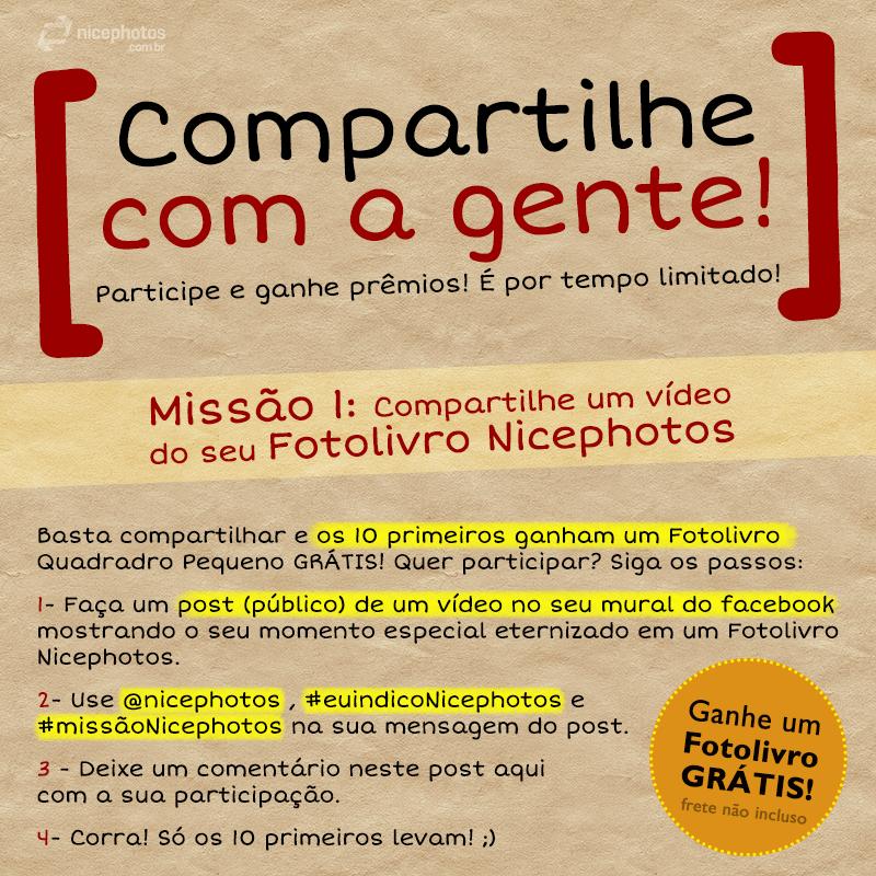 Compartilhe um Fotolivro! Missão #1