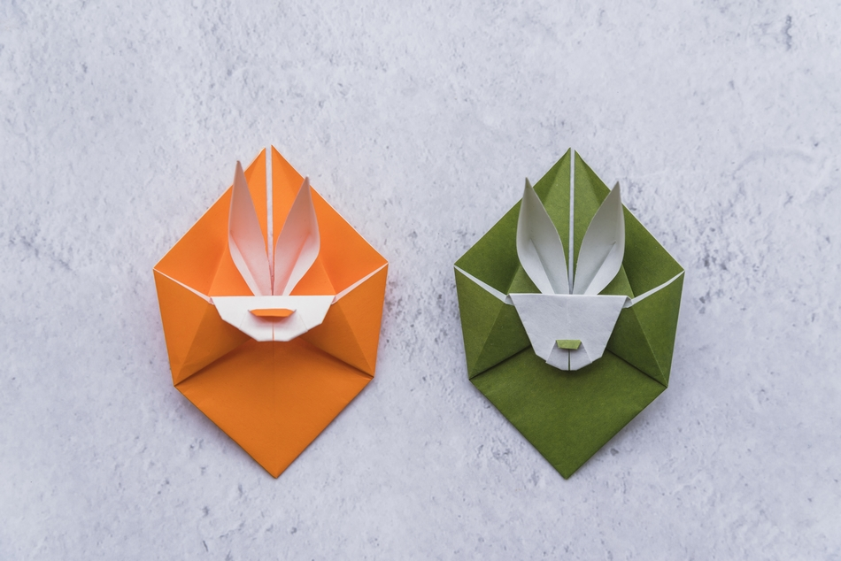 Coelho da Páscoa de Origami