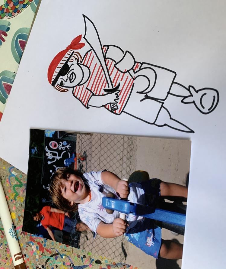 Transformando foto em personagem de desenho 05